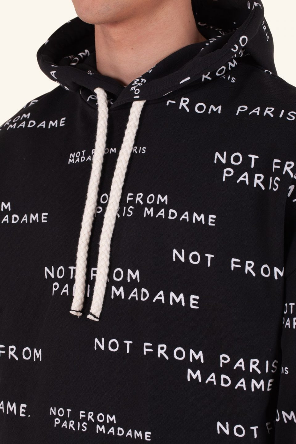 Slogan All Over Hoodie