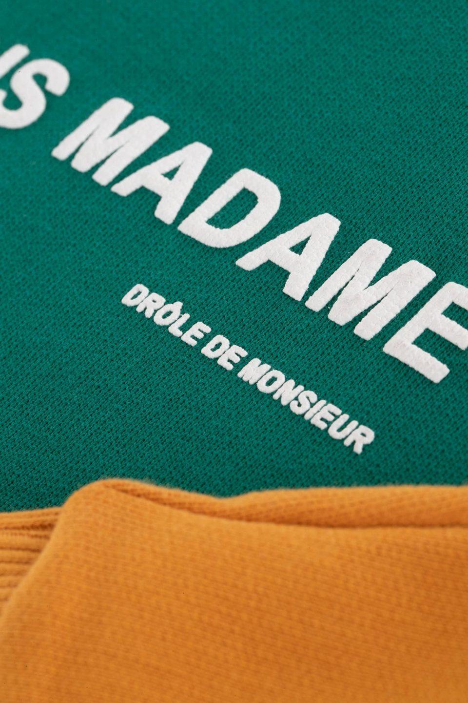 Paneled Slogan Sweatshirt