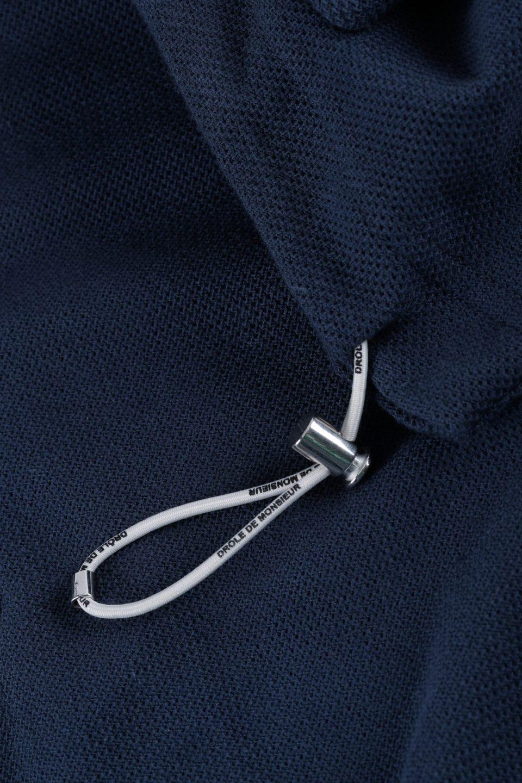 Zipped Pique Hoodie
