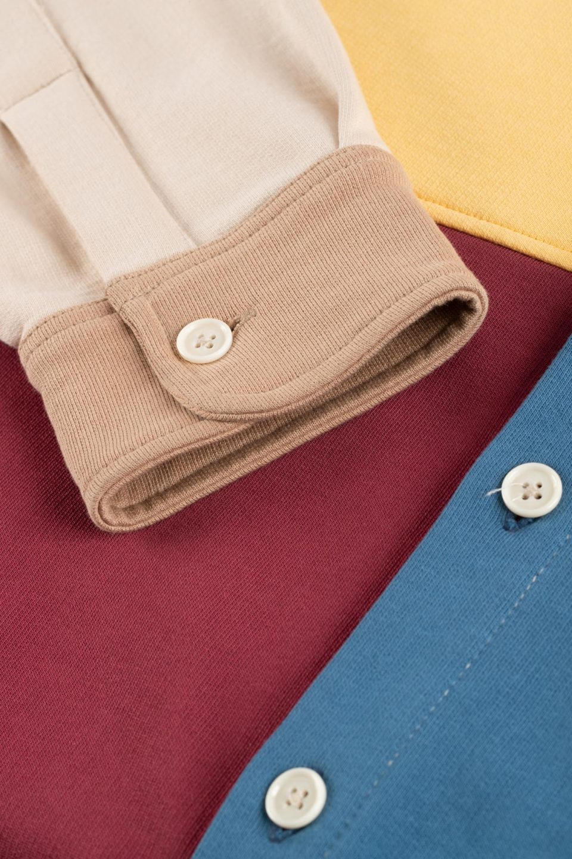 Fleece Color Block Shirt