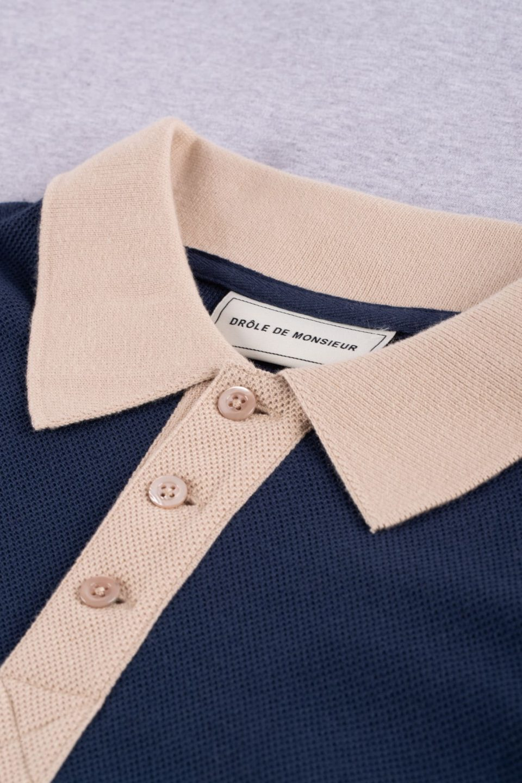 Paneled Polo Shirt