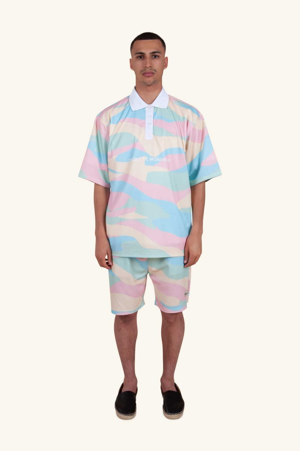 Mesh Ice Cream Polo Shirt