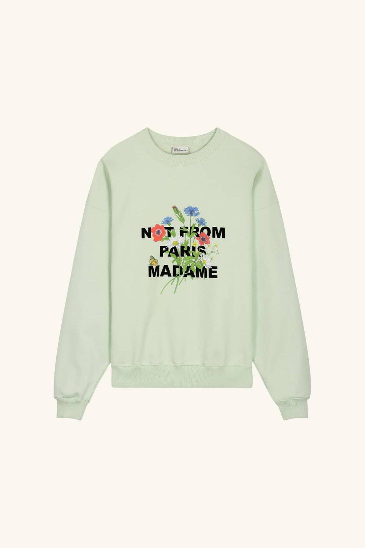 Flower Slogan Sweatshirt
