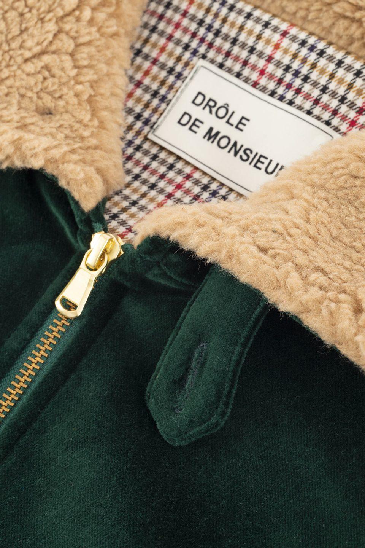 Velvet Sherling Collar Jacket