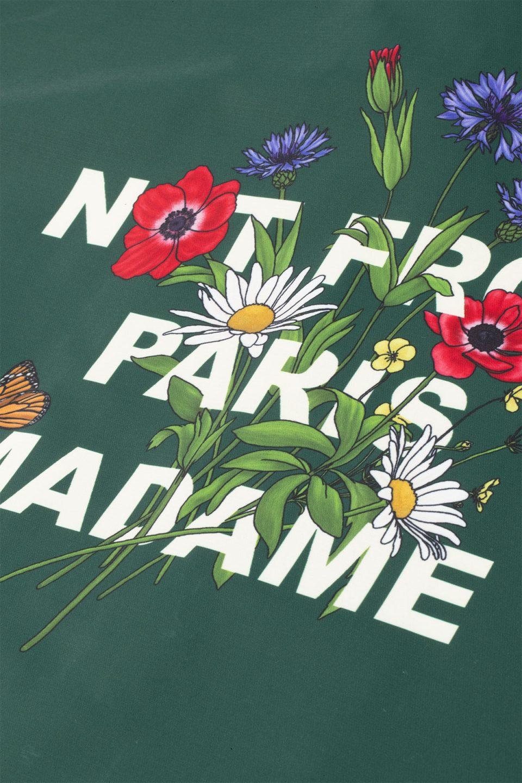 Flower Slogan Jacket