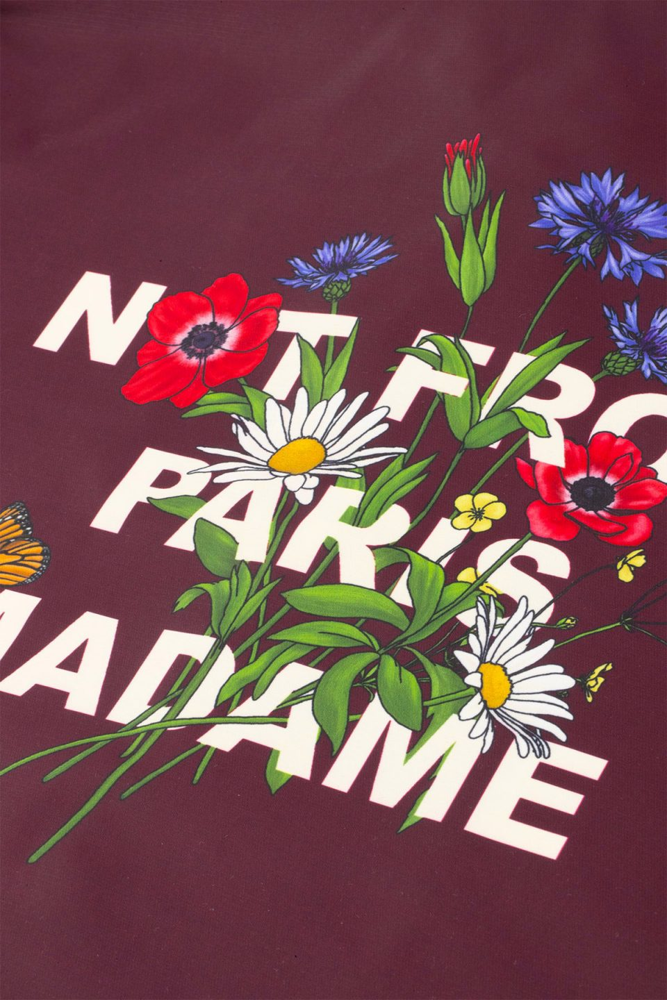 Flower Slogan Jacket