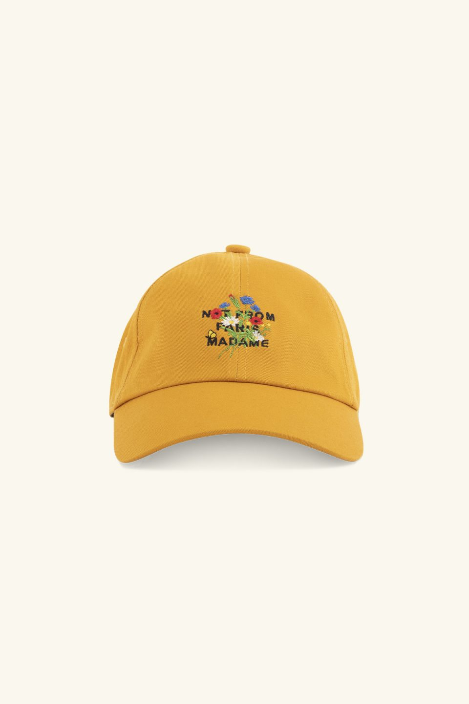 Flower Slogan Cap