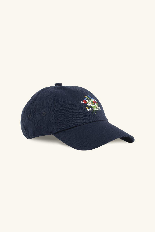 Flower Slogan Cap