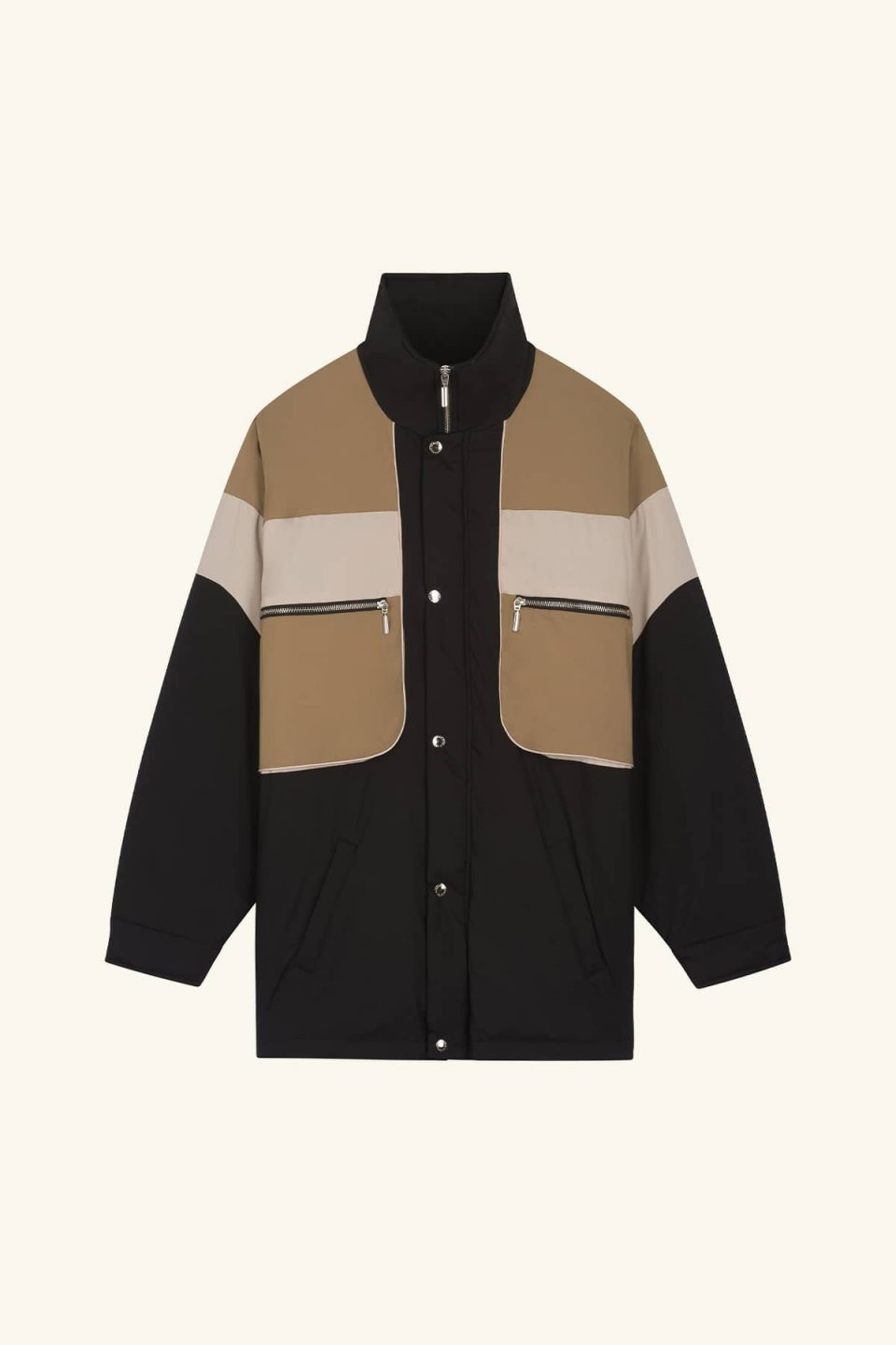 Nylon Paneled Jacket