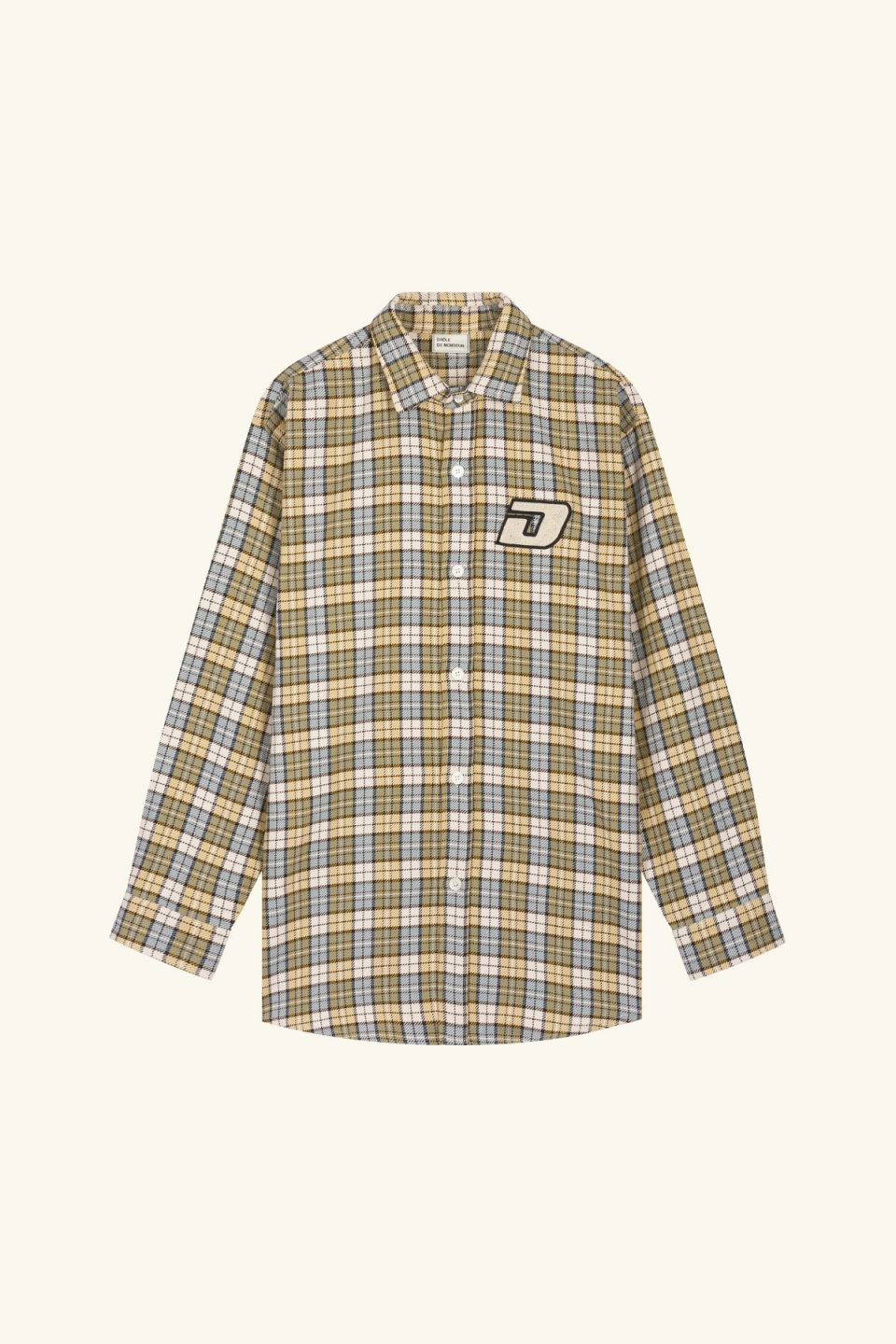 Patched Oversize Shirt