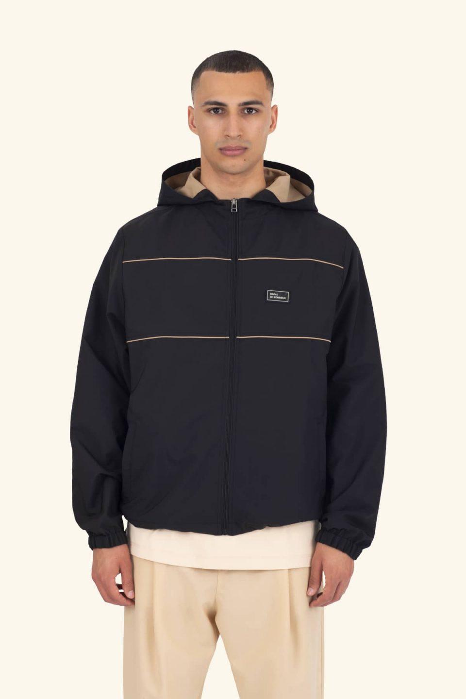 Zipped Slogan Jacket