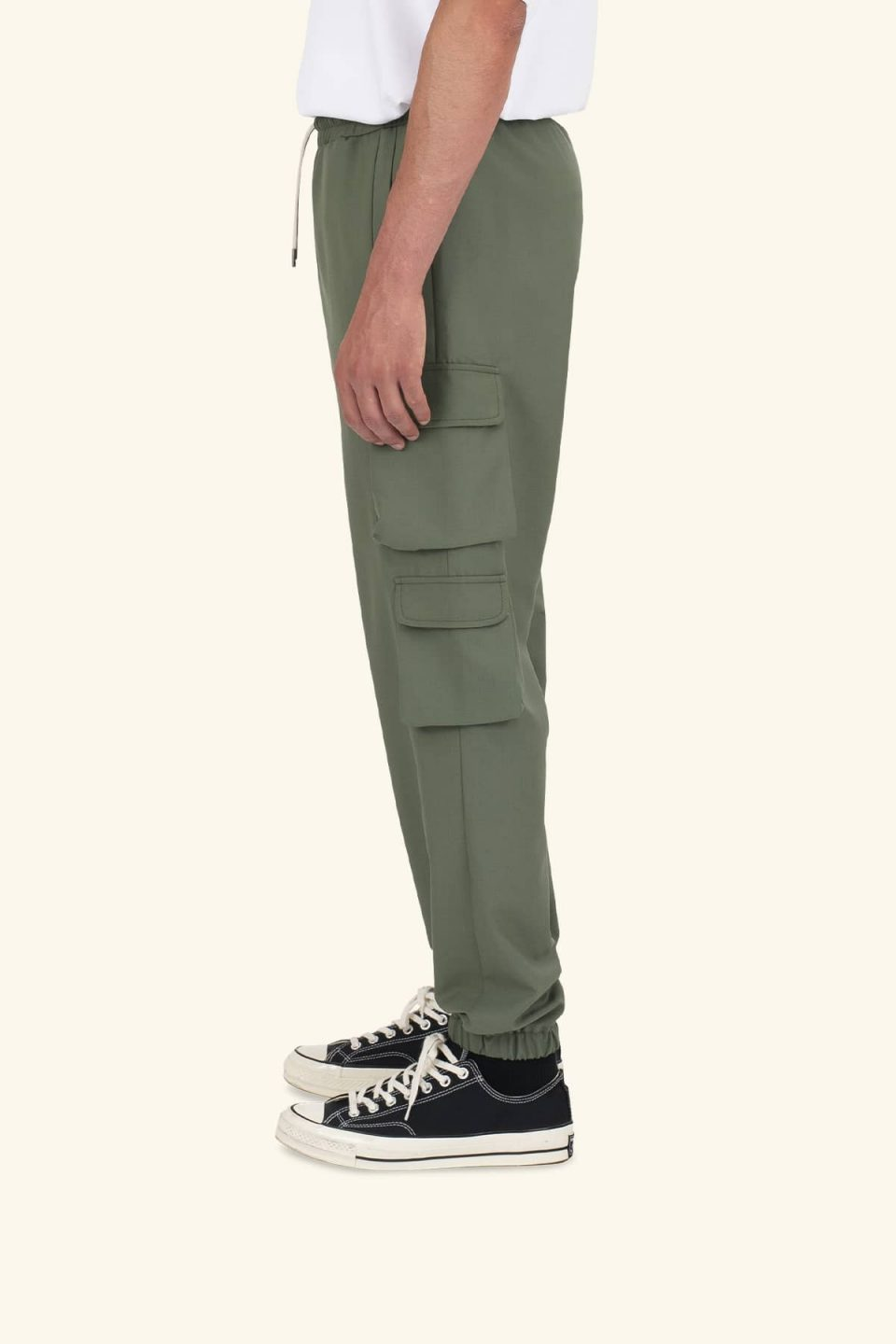 Wool Cuffed Cargo Pants