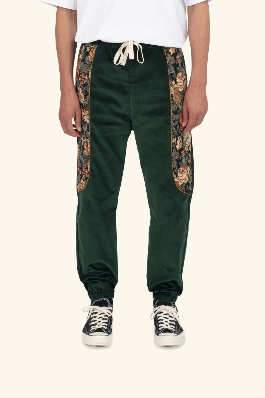 Velvet Yoked Pants