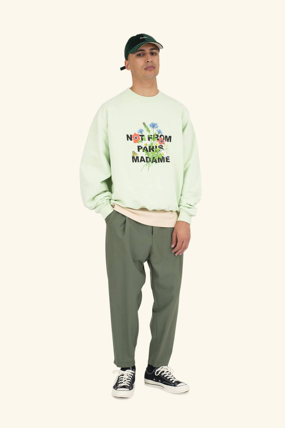 Flower Slogan Sweatshirt