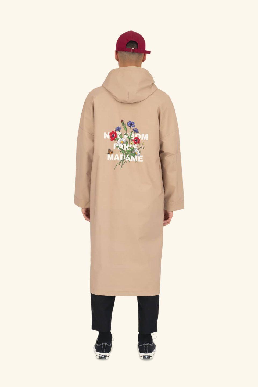 Flower Slogan Raincoat