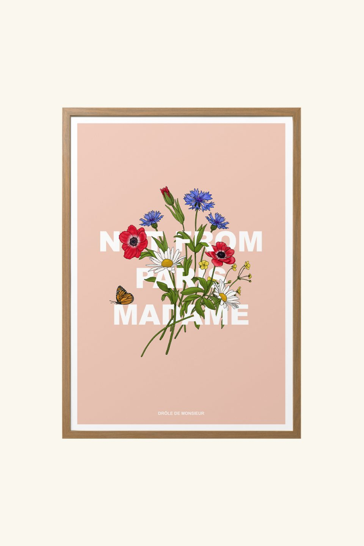 Flower Slogan Poster