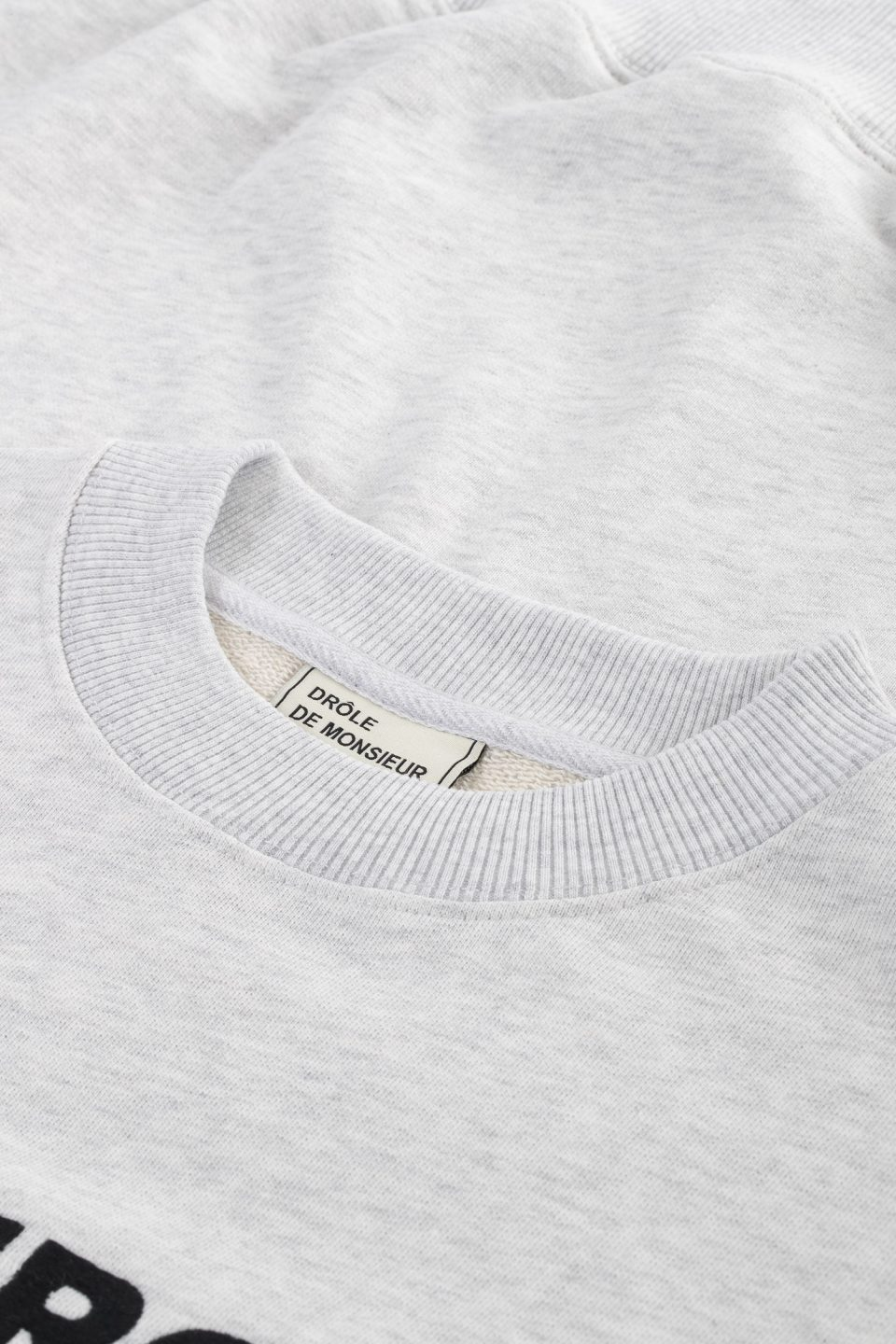 Slogan Embroidered Sweatshirt