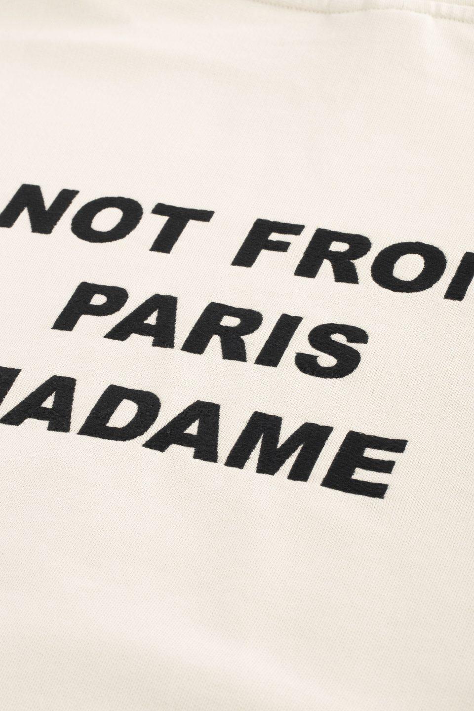 Slogan Embroidered Hoodie