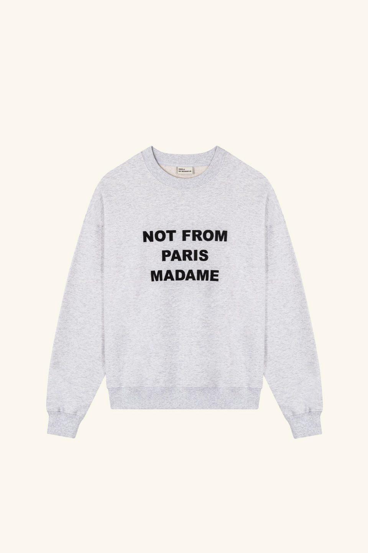 Slogan Embroidered Sweatshirt