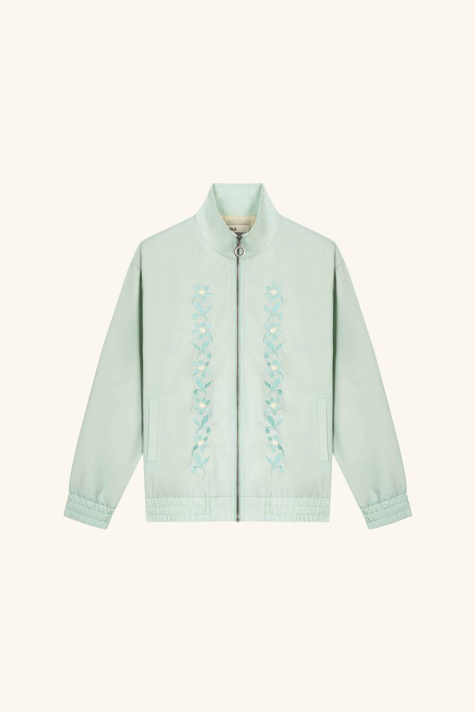 Wool Floral Track Jacket