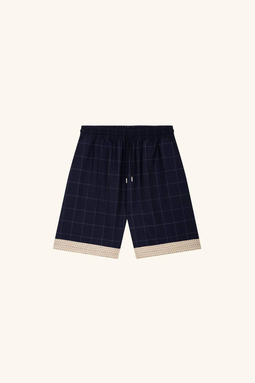 Wool Check Short
