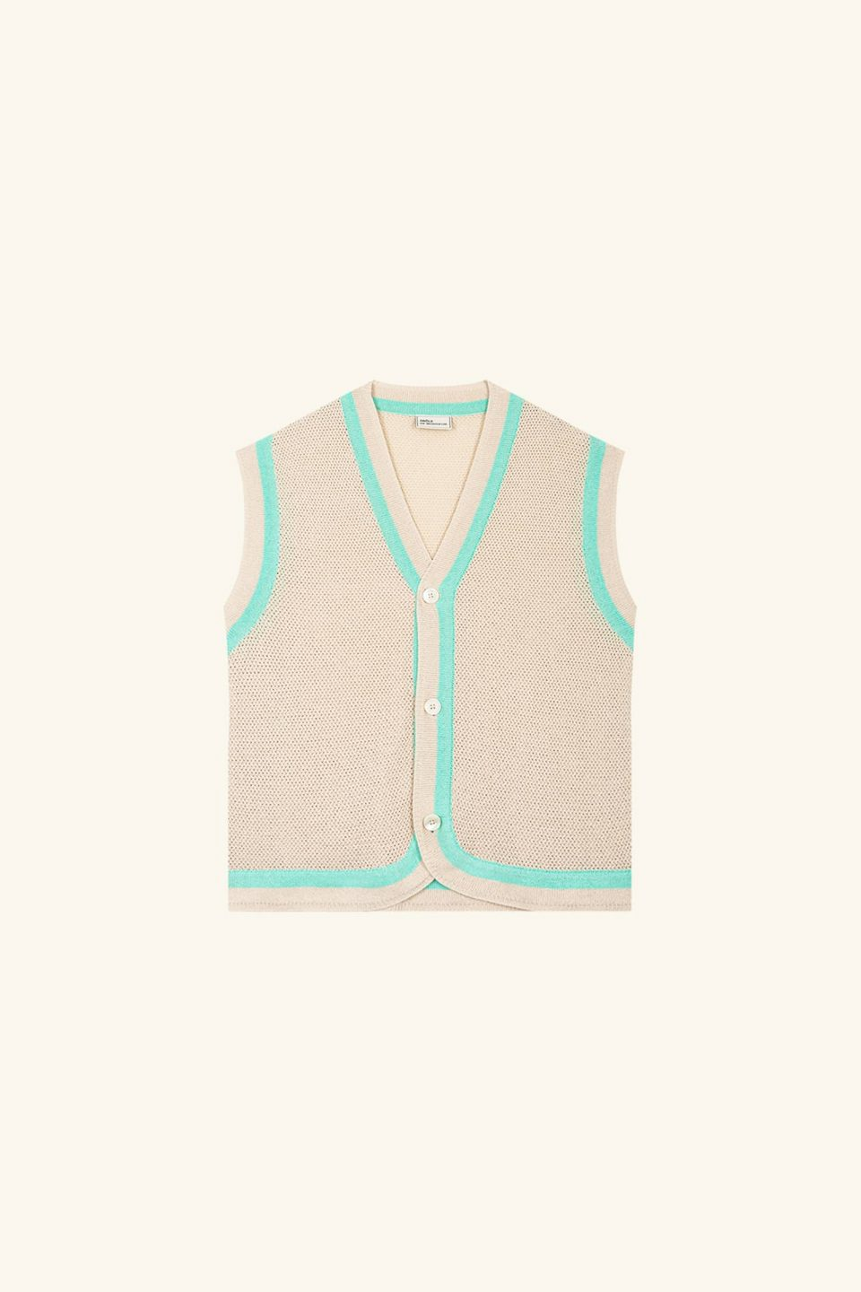 Knitted Sleeveless Cardigan